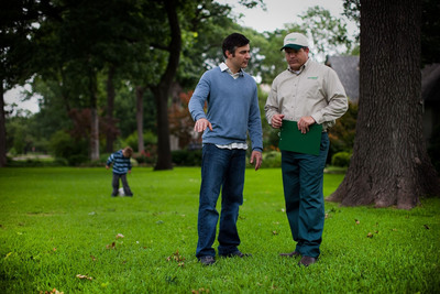 Prolonged record high temperatures this summer distressed America's lawns and landscapes. TruGreen's certified specialists are trained in local area weather and growing conditions to deliver a customized approach to fall lawn recovery. (PRNewsFoto/TruGreen)