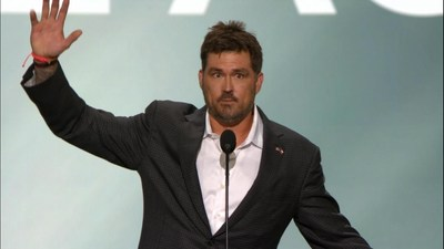 """Lone Survivor"" Marcus Luttrell delivered an emotional and hard-hitting speech last night at the Republican National Convention."