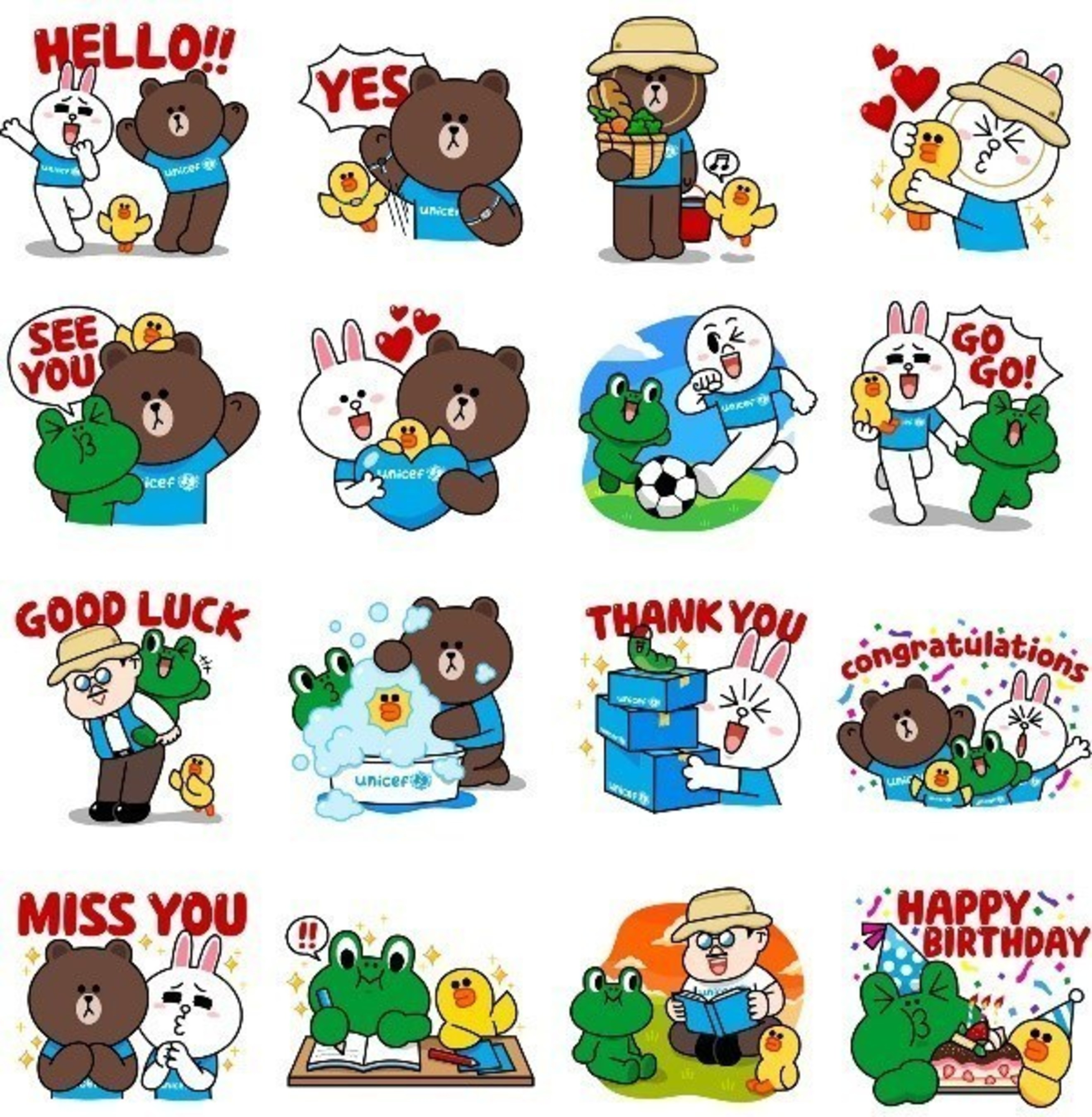 LINE X UNICEF: Special Edition stickers
