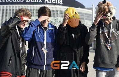 Fan support for G2A at the 2015 World Championships EU LC (PRNewsFoto/G2A.com) (PRNewsFoto/G2A.com)