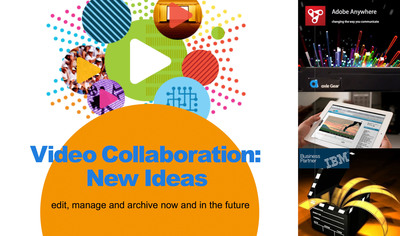 Video Collaboration: New Ideas Seminars to Launch in Hollywood and New York - speakers from Adobe, axle Video and IBM to participate.  Chris Dee, formerly of HBO, will be the keynote speaker at these events.  Adobe will be highlighting its Adobe Anywhere distributed editing solution; axle, its axle Gear radically simple media management, and IBM its LTO and LTFS technologies for archiving large amounts of media.  The New York event is on December 10th, the Hollywood event on December 12th.  (PRNewsFoto/axle Video, LLC)