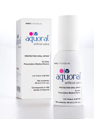 Mission Pharmacal Launches Aquoral Oral Spray for Dry Mouth. Relieves symptoms with no side effects. (PRNewsFoto/Mission Pharmacal Company) (PRNewsFoto/MISSION PHARMACAL COMPANY)