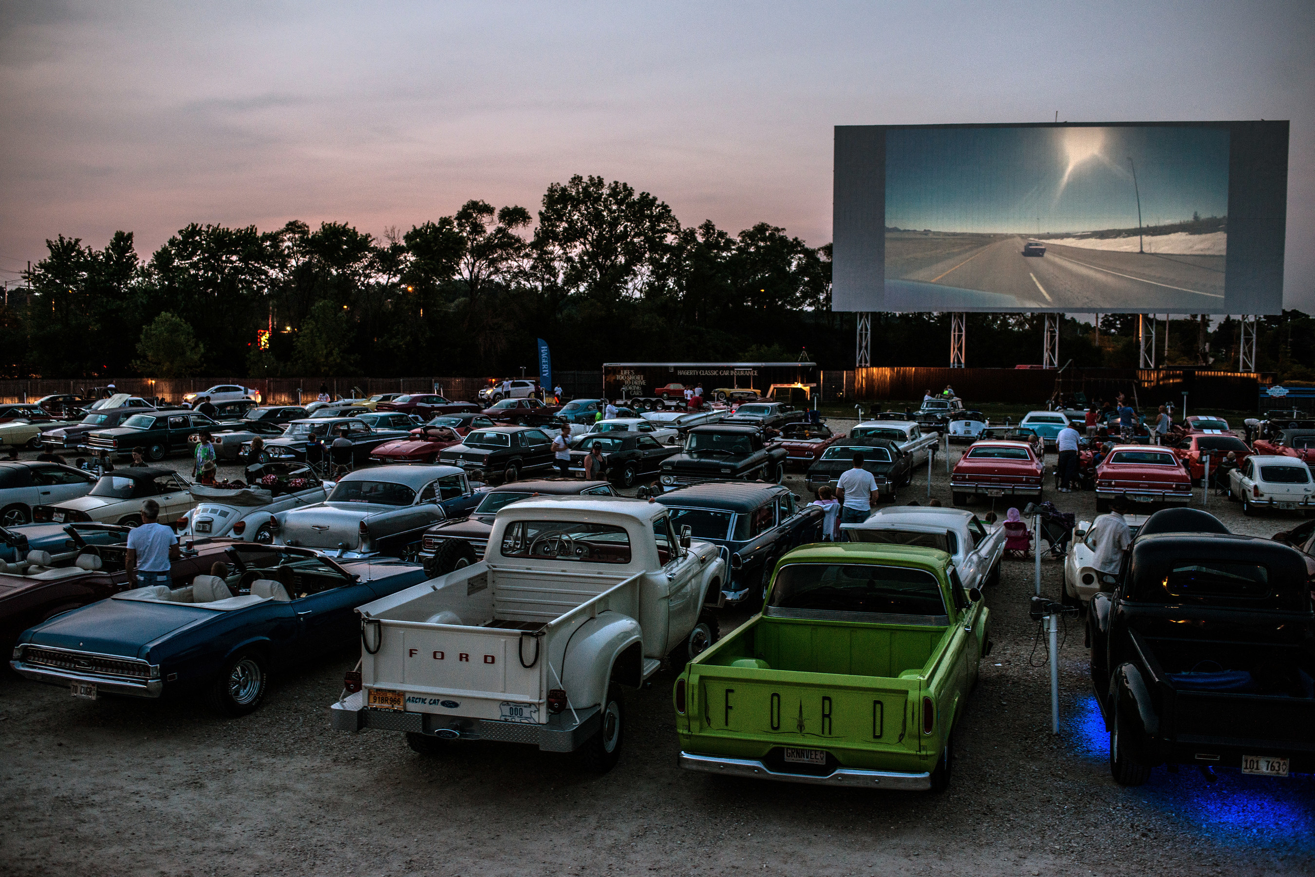 Hagerty Classic Cars magazine took over a Chicago-area drive-in to celebrate the 6th annual Collector Car Appreciation Day