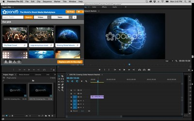 Version 2 of Pond5's Adobe Premiere Pro plugin features faster search, instant checkout, and access to thousands of free public domain video clips.