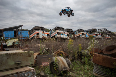 XP1K3 is six minutes of full throttle, turbo powerd, mind bending off-road action! RJ Anderson fearlessly attacks massive jumps, high speed drifts, and treacherous man made terrain in his custom 200 horsepower RZR XP Turbo. XP1K3 was shot in the post apocalyptic dystopian decay of abandoned steel mills, old factories, and train yards and features an array of massive man-made obstacles spread out over six locations near Youngstown, Ohio. Professional Driver. One-Of-A-Kind Heavily Modified Vehicle. Do Not Attempt. You Could Die.