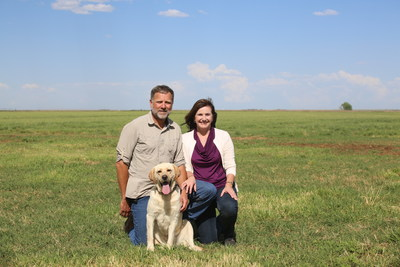 Donald and Cheri De Jong, founders of the De Dong Foundation, at home on their organic dairy farm in Dalhart, Texas.