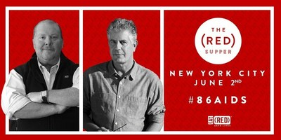 Mario Batali and Anthony Bourdain invite New Yorkers to the table in the fight to #86AIDS with The (RED) Supper.