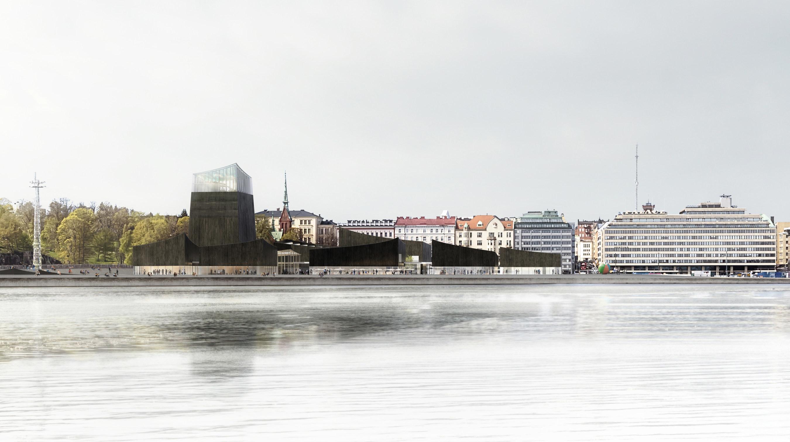 Entwurf für Guggenheim-Museum in Helsinki von Pariser Architekturbüro Moreau Kusunoki Architectes