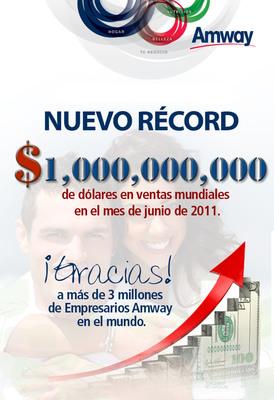Comunicado 1 billon. (PRNewsFoto/AMWAY LATIN AMERICA)