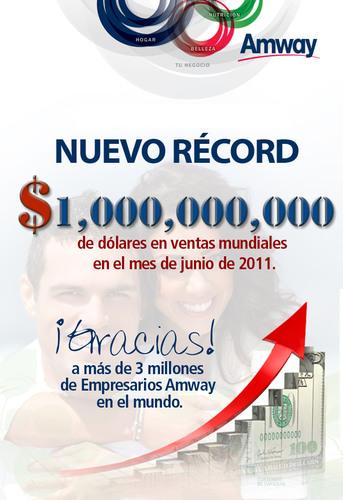 A Amway bate US$ 1 bilhão de vendas no mês de junho