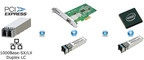 Blackfin LC PCI-e network adapters integrate an Intel I210 PCI-Express network controller plus multimode or single mode optical transmitters and receivers into a modular pluggable component with an LC connector interface.