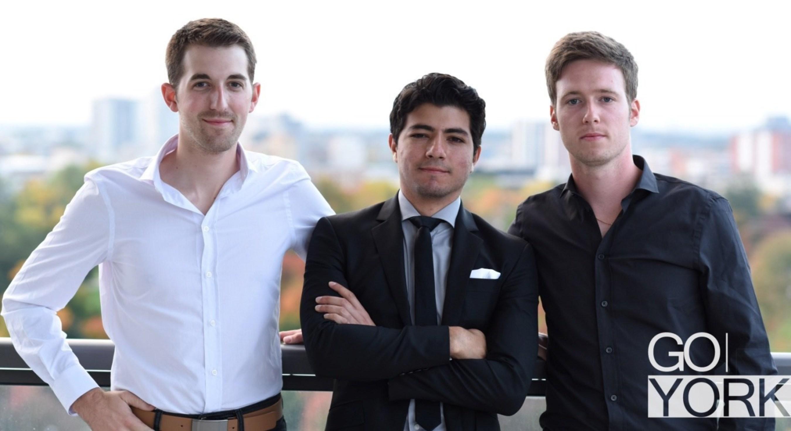 Co-Founders Left to right, Chris Norkett, Julian Corredor and Daniel Byrne (PRNewsFoto/Gentlemen of York)