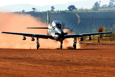 The U.S. Air Force has selected Sierra Nevada Corporation and Embraer to supply the A-29 Super Tucano aircraft that will be used as part of the U.S. government's partner-building efforts in Afghanistan and other nations.  The A-29 Super Tucano will be used to conduct advanced flight training, aerial reconnaissance and light air support operations.  (PRNewsFoto/Sierra Nevada Corporation)