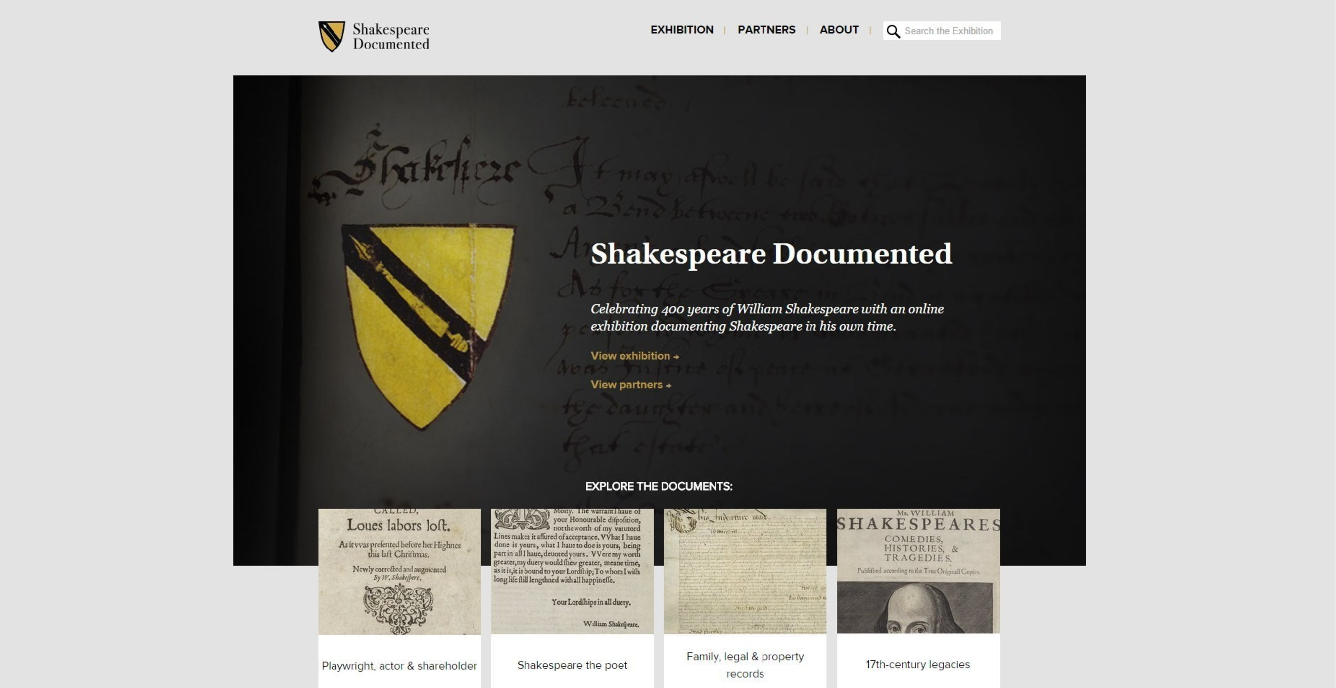 Shakespeare Documented is a new online resource sharing the manuscripts and printed books that document the life and career of William Shakespeare.