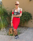 Adwoa Aboah in Wildfox Grand Dame frame and Totally Rad shark tank