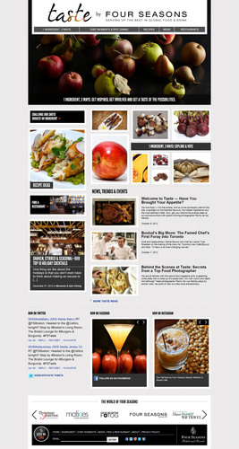 Taste, a new epicurean website created by Four Seasons Hotels and Resorts, launched today, highlighting ingredients, experiences, restaurants and bars.  (PRNewsFoto/Four Seasons Hotels and Resorts)