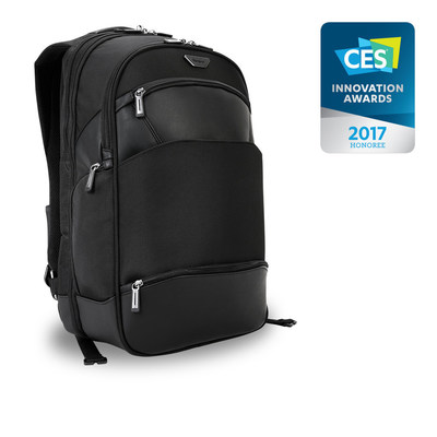 The Targus Mobile ViP Backpack, CES 2017 Innovation Awards Honoree, stands on its own. Literally.