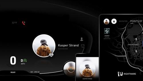 "Rightware's ""Triton-Connected HMI"" concept showcases the future of automotive user interfaces ..."