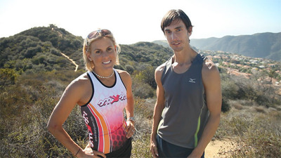 Brendan Brazier with Ironman Champion and Thrive Forward Ambassador Hillary Biscay.