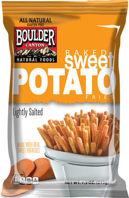 New Baked Sweet Potato Fries from Boulder Canyon Natural Foods brings on-trend spud snack to grocery aisle.  (PRNewsFoto/Inventure Foods, Inc.)