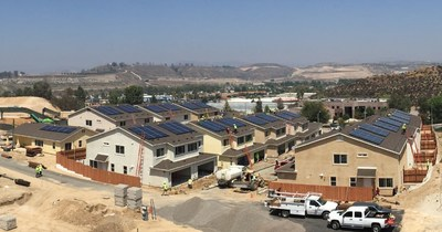 SolarCity crews, including 7 veterans on staff, joined forces to complete solar power systems at 26 new Habitat for Humanity of San Fernando/Santa Clarita Valleys homes in a single day. The new home project in Santa Clarita, California was created for returning veterans to achieve upward mobility and more smoothly reintegrate into civilian life.