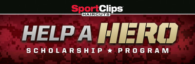 """Sport Clips Haircuts to """"Help A Hero"""" through Nationwide Campaign. Nation's leader in men's and boys' hair care expands annual fundraiser to benefit scholarship program for veterans. (PRNewsFoto/Sport Clips Haircuts) (PRNewsFoto/SPORT CLIPS HAIRCUTS)"""