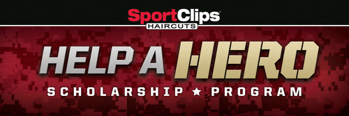 "Sport Clips Haircuts to ""Help A Hero"" through Nationwide Campaign. Nation's leader in men's and boys' hair care expands annual fundraiser to benefit scholarship program for veterans.  (PRNewsFoto/Sport Clips Haircuts)"