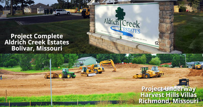Four Corners Development, LLC has completed construction on our 12 month Aldrich Creek Estates affordable family apartment community in Bolivar, Missouri! We have also just broken ground on Harvest Hills Villas in Richmond, Missouri which is a new affordable senior community.