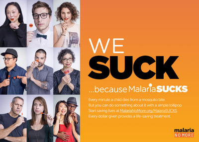 MalariaSUCKS photo montage. (PRNewsFoto/Malaria No More)