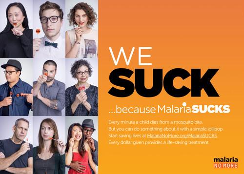 MalariaSUCKS photo montage. (PRNewsFoto/Malaria No More)