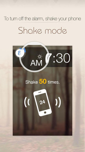 Shake your phone 50 times to stop the alarm. (PRNewsFoto/Delight Room Co., Ltd.) (PRNewsFoto/DELIGHT ROOM CO., LTD.)