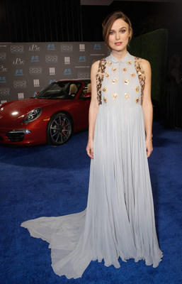 Keira Knightley arrives as Porsche celebrates the 20th Annual Critics' Choice Movie Awards at the Hollywood Palladium on Thursday, Jan.15, 2015, in Hollywood, Calif. (Photo by Todd Williamson/Invision for Porsche/AP Images)