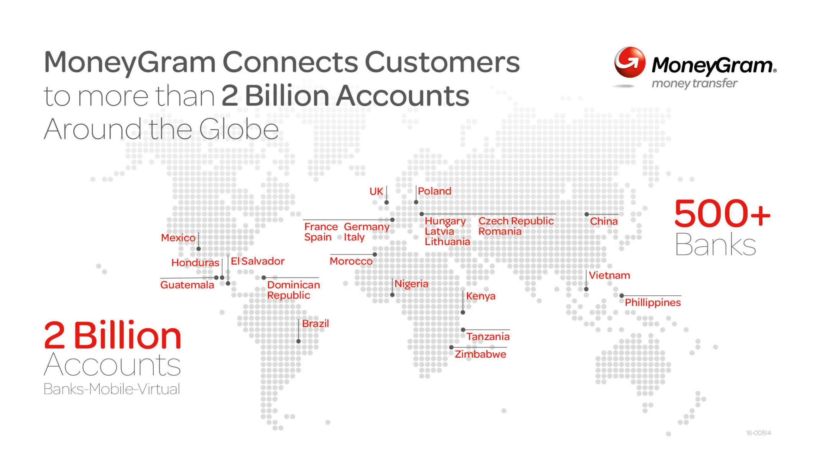MoneyGram Connects Customers to more than 2 Billion Accounts Around the Globe