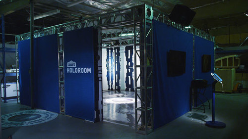 The Lowe's Holoroom is a home improvement simulator which applies 3-D and augmented reality technologies to provide homeowners an intuitive, immersive experience in the room of their dreams. (PRNewsFoto/Lowe's)
