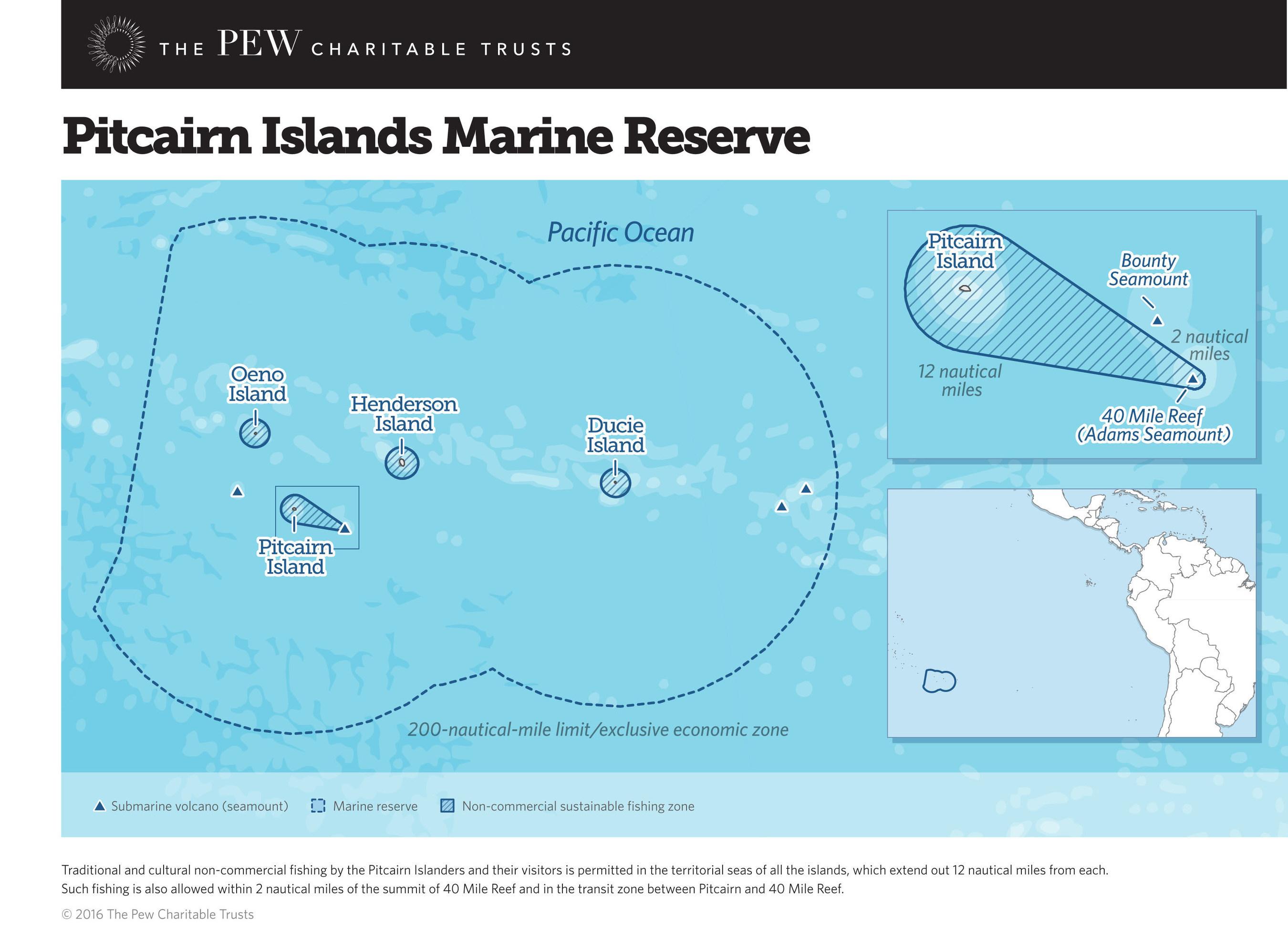 Pitcairn Islands Marine Reserve Map