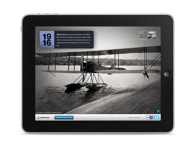 The first Boeing airplane, the B&W, as depicted in the company's Milestones in Innovation app for iPad. The app was released May 7.  (PRNewsFoto/Boeing)