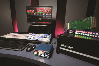 Use Ensemble BrightEye NXT and Avenue video routing switchers for input expansion with NewTek's TriCaster.  (PRNewsFoto/Ensemble Designs)