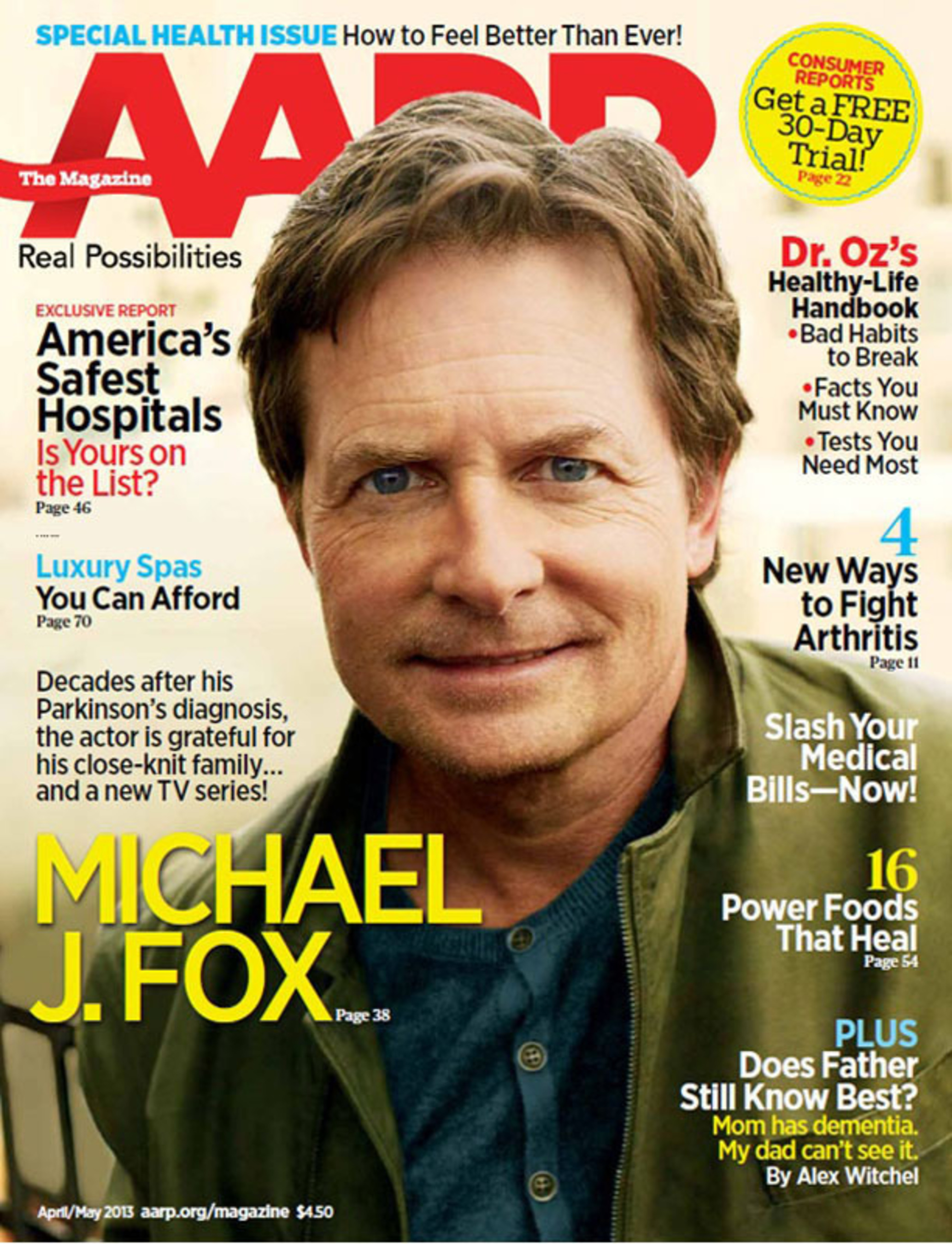 Beloved Entertainer Michael J. Fox Speaks Candidly About His Health, Career and Family in the April/May Issue of AARP The Magazine.  (PRNewsFoto/AARP)