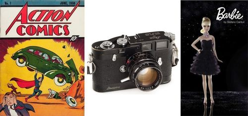 """World's 1st and most expensive Comic Magazine, 1938. The most expensive """"Leica Camera"""", 1955 ever ..."""