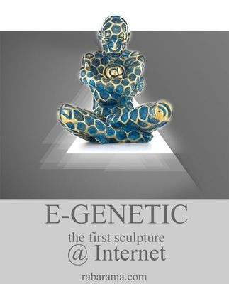 "Rabarama ""E-GENETIC"" : the first time a renowned international artist has created an artwork that will be displayed and sold to collectors only via the Internet. www.rabarama.com"