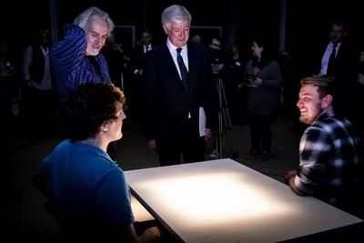 BBC Director-General Tony Hall talks to drama students at the University of South Wales (PRNewsFoto/University of South Wales)