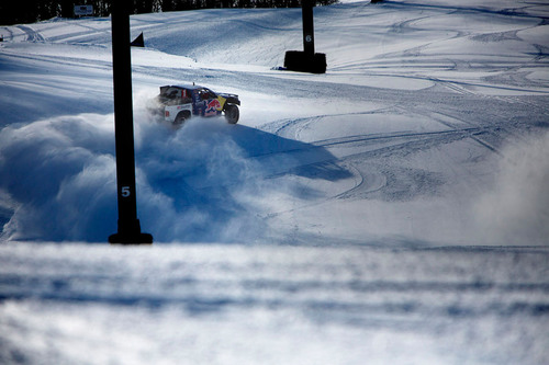 Pro-4 off-road racing truck took to the snowy incline of Mount Snow to prove what's possible for Red Bull ...