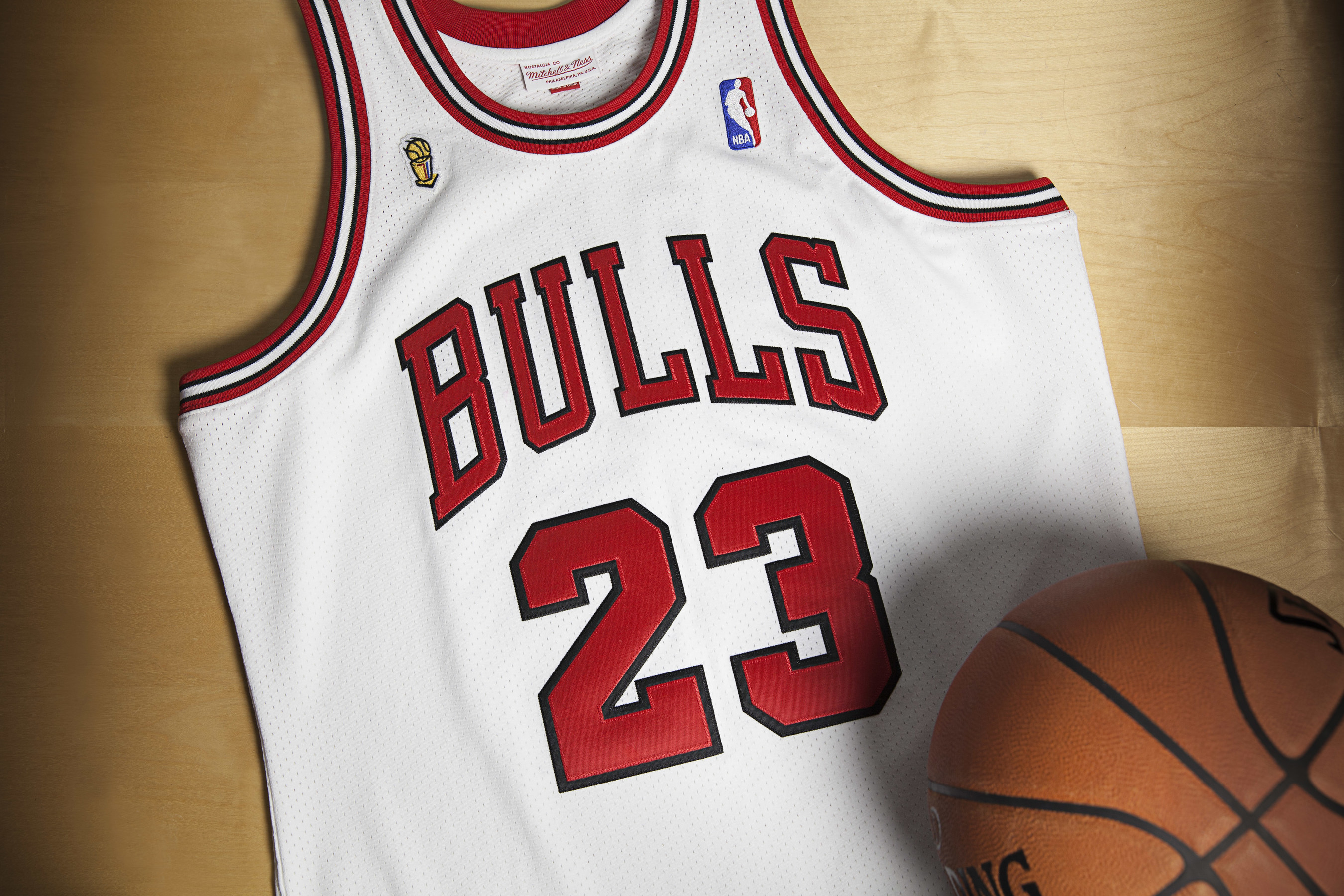 3cdbf20d9e99 Mitchell   Ness Releases 1995-96 Michael Jordan  72-10  Season Chicago Bulls  Authentic Home Championship Jersey