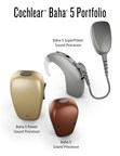 The Cochlear(TM) Baha(R) 5 Sound Processor Portfolio consists of the two newest devices, the Baha 5 SuperPower and Baha 5 Power, as well as the Baha 5. The Baha 5 portfolio provides a range of solutions for those with single-sided deafness (SSD) or have conductive or mixed hearing loss.The entire Baha 5 portfolio provides customers with the ability to hear better across noisy environments, connect wirelessly to a variety of electronic devices, and provide direct-to-device wireless streaming and control with Made for iPhone(R) support.