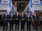 The Opening Ceremony and Ribbon Cutting of AmCham South China USA Pavillion.  (PRNewsFoto/AmCham South China)