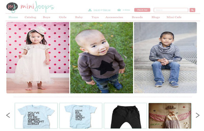 MiniJoops is pleased to announce the official launch of its online retail store, boasting modern and cutting edge children's apparel as seen via global trends in the international fashion market. (PRNewsFoto/MiniJoops)