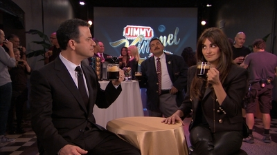 Something's Brewing Backstage at Jimmy Kimmel Live!... Jimmy Kimmel was distracted from his hosting duties last night by Penelope Cruz and the Nespresso VertuoLine coffee she brought to the show. To watch what happened go to http://bit.ly/jimmyjoins.