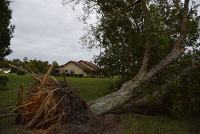 Saturday October 8, 2016, Pembroke, Georgia. Storm damaged properties in the neighborhood of Pembroke, Georgia, 30 miles outside of Savannah. Photo by Daniel Cima for the American Red Cross