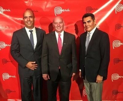 Mr. Jose Antonio Gomez Bazan, Peruvian Minister of Foreign Commerce and Tourism Eduardo Ferreyros, and Mr. Xavier Equihua