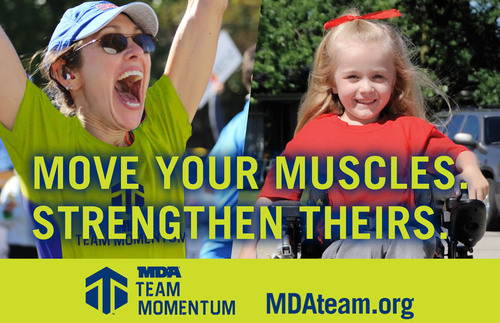 To join MDA Team Momentum or to learn more, please visit, MDAteam.org and like the MDA Team Momentum page on Facebook at facebook.com/MDATeamMomentum. (PRNewsFoto/Muscular Dystrophy Association) (PRNewsFoto/MUSCULAR DYSTROPHY ASSOCIATION)